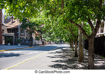 Street of Providencia commune in Santiago, Chile - Typical...