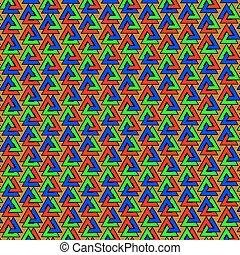 Valknut vector pattern, Valknut colorful background