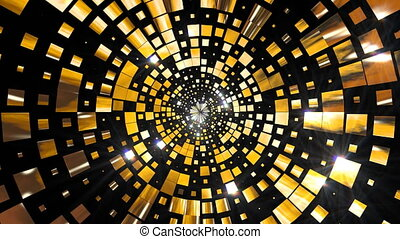Golden Shining Stage - 4K golden shine abstract stage...