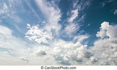 Time lapse of the evening sky with beautiful clouds, Video...
