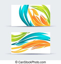 Abstract blank name card template for business artwork