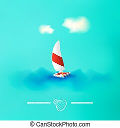 Summer vacation and travel background. Vector Illustration, Graphic Design Editable For Your Design.