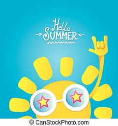 hello summer rock n roll poster. summer party design...