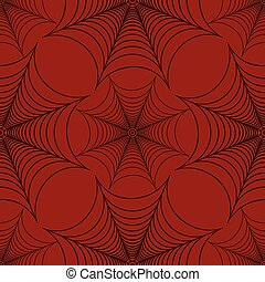 Stylized spider web seamless pattern black and red vector...
