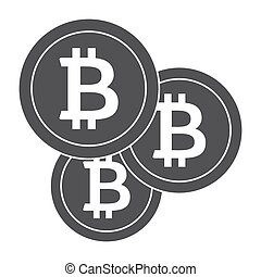 Crypto Currency Icon - Bitcoins icon for cryptocurrency,...