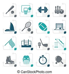 Stylized Sport objects icons