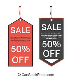 Sale tag template - Sale tag 50 percent off template....
