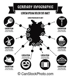 Germany infographic concept, simple style - Germany...