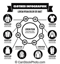 Clothes infographic concept, simple style