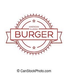 Burger vintage stamp sign