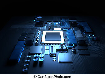 CPU and Motherboard Background