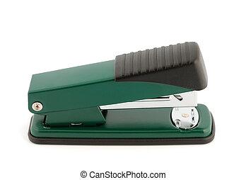 Stapler - Metallic office stapler isolated on white...