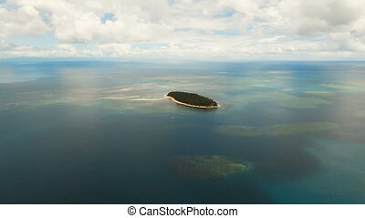 Aerial view beautiful tropical island. Philippines. - Aerial...