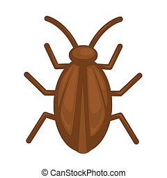 Cockroach in brown color isolated on white graphic...