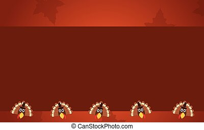 Style background with turkey Thanksgiving theme