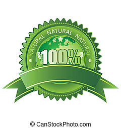 100% natural - 100% vector natural sign