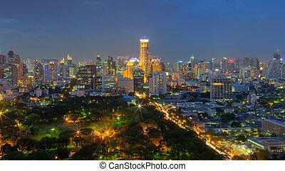 bangkok green space - Bangkok view of green space, parks,...