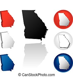 State of Georgia Icons - Georgia Icons