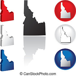 State of Idaho Icons