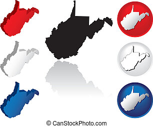 State of West Virginia Icons - West Virginia Icons