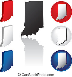 State of Indiana Icons