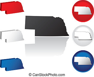 State of Nebraska Icons