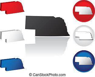 State of Nebraska Icons