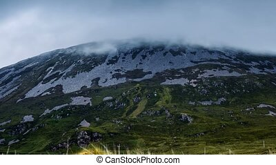Clouds Covering Mount Errigal, County Donegal, Ireland-Pan