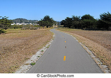 Narrow Bike Path Road