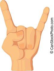 Horns icon, cartoon style
