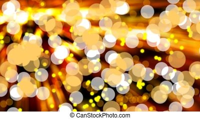 Glittering bokeh lights - Defocused glittering golden bokeh...