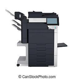 Office Multifunction Printer Isolated