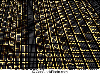 Flights Cancelled Terminal Board - illustration of an...