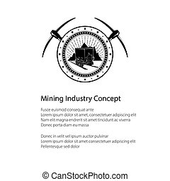 Flyer of the Mining Industry, Coal Mine Trolley against...