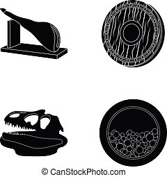 archeology, history and or web icon in black style....
