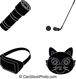 animal, technology and or web icon in black style.glow, sport icons in set collection.