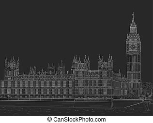 Sketch the palace of Westminster - Sketch of the Palace of...