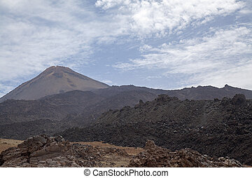 Canary Islands, Tenerife, view towards Teide, the tallest...