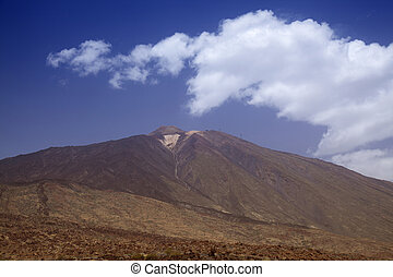 Canary Islands, Tenerife, view towards Teide from the south