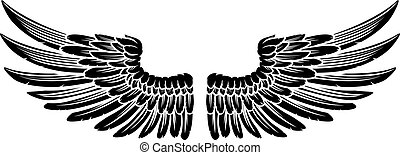 Pair of Vintage Style Wings