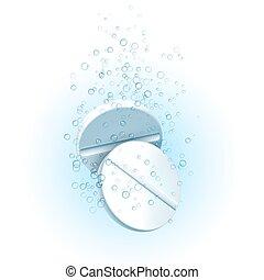 Medicine Pills in Water