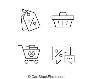 Shopping cart, Discount Coupons and Sale icons.