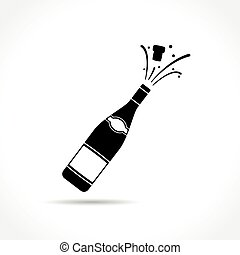 champagne bottle explosion icon