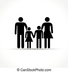 family icon on white background