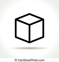 cube icon on white background