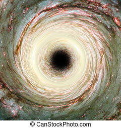 Artistic Representation of a cosmic Black Hole. Elements...