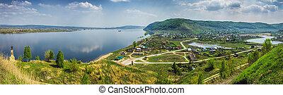 Panorama of Shiryaevo village Samara region - Panorama of...