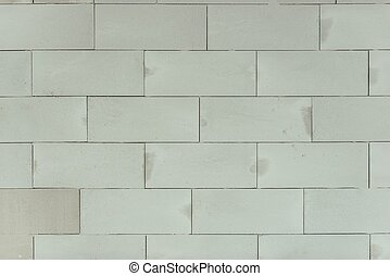 Concrete Blocks Wall Background. Hollow Brick Backdrop.