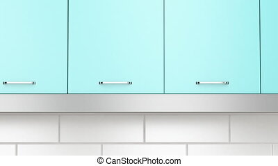 Modern extractor hood in the kitchen