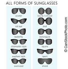 all forms of sunglasses.eps - All forms / types of...